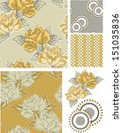bold floral vector patterns. ... | Shutterstock .eps vector #151035836