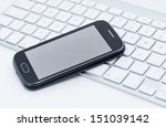 business smartphone on the... | Shutterstock . vector #151039142
