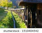 Japanese Rural Area Water Wheel ...