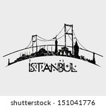 istanbul city retro style... | Shutterstock .eps vector #151041776