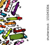 toy cars collection  seamless... | Shutterstock .eps vector #151043306