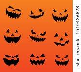halloween pumpkin face evil... | Shutterstock .eps vector #1510436828