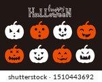 pumpkin emotions. vector set of ...   Shutterstock .eps vector #1510443692