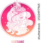 illustration of sagittarius... | Shutterstock .eps vector #1510497965
