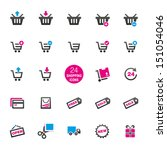 24 shopping icons | Shutterstock .eps vector #151054046