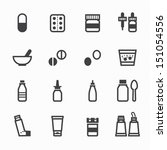 pharmacy icons and medical... | Shutterstock .eps vector #151054556