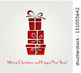 merry christmas card | Shutterstock .eps vector #151055642