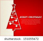 merry christmas card | Shutterstock .eps vector #151055672