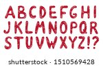 christmas red alphabet with... | Shutterstock .eps vector #1510569428