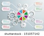 infographic with gears on the... | Shutterstock .eps vector #151057142