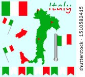 flag italy map  great design... | Shutterstock .eps vector #1510582415