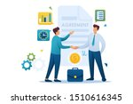 young businessmen agreement... | Shutterstock .eps vector #1510616345