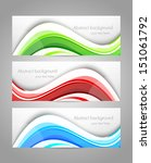 set of banners. abstract... | Shutterstock .eps vector #151061792