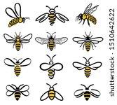 Honey Bee Set. Set Of  Honey...