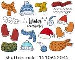 set of winter accessories.... | Shutterstock .eps vector #1510652045