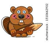 beaver in flat style. symbol ...   Shutterstock .eps vector #1510662932