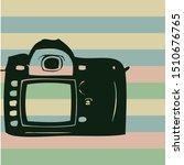 dslr camera retro icon on... | Shutterstock .eps vector #1510676765