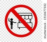 vector sign  do not selling... | Shutterstock .eps vector #1510677332