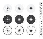 set of 3 simple design sun... | Shutterstock .eps vector #1510679195
