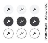 set of 3 simple design key... | Shutterstock .eps vector #1510679222
