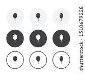 set of 3 simple design balloon... | Shutterstock .eps vector #1510679228