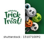 halloween trick or treat candy... | Shutterstock .eps vector #1510710092