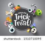 halloween trick or treat... | Shutterstock .eps vector #1510710095