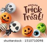 trick or treat halloween vector ... | Shutterstock .eps vector #1510710098