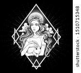 vector black and white goddess...