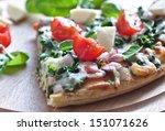 spinach pizza | Shutterstock . vector #151071626