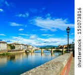 Florence Or Firenze  Ponte All...