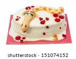 birthday cake with giraffe motif | Shutterstock . vector #151074152