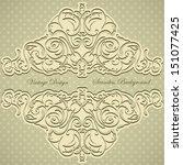 wedding frame  invitation on... | Shutterstock .eps vector #151077425