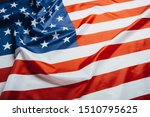 american flag waving in the... | Shutterstock . vector #1510795625