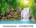 Deep Forest Waterfall At Erawa...