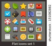 vector flat icon-set 1