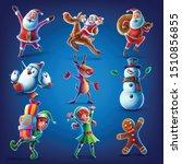Santa Claus Elf Reeindeer...