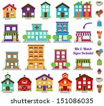 vector collection of city and... | Shutterstock .eps vector #151086035