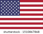 united states flag with correct ... | Shutterstock . vector #1510867868