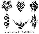 tribal tattoos   Shutterstock .eps vector #15108772