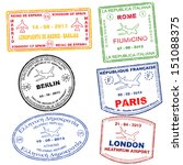 passport grunge stamps from... | Shutterstock .eps vector #151088375