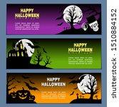 halloween horizontal banners...   Shutterstock .eps vector #1510884152