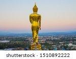 Backside View Of Golden Buddha...