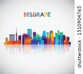 Belgrade Skyline Silhouette In...