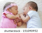 Cute Twins Sleeping Together  ...