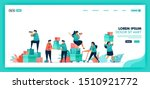 people help each other  collect ... | Shutterstock .eps vector #1510921772