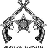A Sheriff Star Badge And Pair...