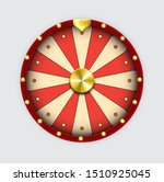 Wheel Of Fortune Isolated Red...