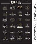 big set of raster coffee... | Shutterstock . vector #1510926392