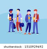 group of young people  standing ... | Shutterstock .eps vector #1510929692